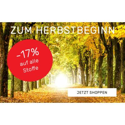 -17% auf alle Stoffe zum Herbstbeginn -