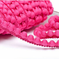 Pomponborte 15 mm, pink