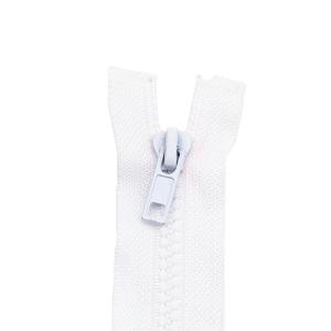 Reißverschluss Kunststoffkrampe 5mm, weiß 45 cm