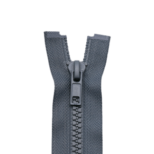 Reißverschluss Kunststoffkrampe 5mm, grau 50 cm