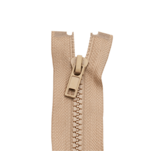Reißverschluss Kunststoffkrampe 5mm, beige 55 cm