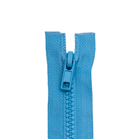 Reißverschluss Kunststoffkrampe 5mm, mittelblau