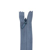 Nahtverdeckter Reißverschluss, grau