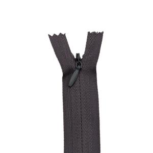 Nahtverdeckter Reißverschluss, dunkelgrau 60 cm