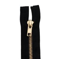 Reißverschluss Metall 6 mm, schwarz 70 cm