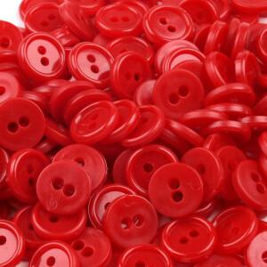 Hemdknöpfe 100 Stück, rot