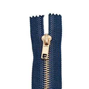 Reißverschluss Jeans, blau jeans-melé