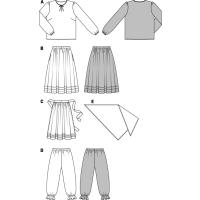 Hexe – Partnermodell Bluse – Rock – Schürze – Hose – Tuch #2366