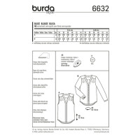 Bluse – V-Ausschnitt mit Blende #6632
