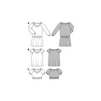 Kleid – Bluse – Kurzbluse – Gummidurchzug #6684