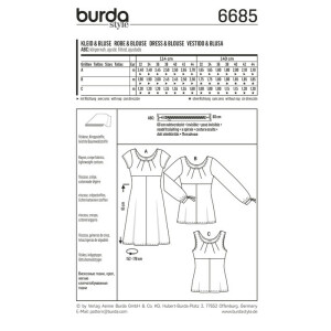 Kleid – Bluse – Top – hohe Taille #6685