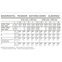 Bademantel – Schalkragen – Kapuze #6740