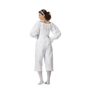 Historische Wäsche, Hemd, ¾ Hose und Mieder #7156
