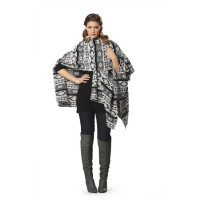 Cape - Strick, Fake Fur #7313