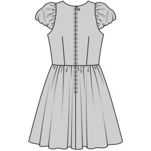 Kleid - 50er-Jahre, Tellerrock #7556