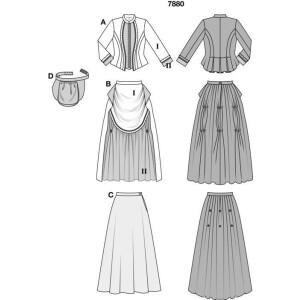 Wilhelminisches Kleid - 19 Jhdt. #7880