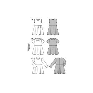 Mädchenkleid - Karokleid - glockiger Rock #9379