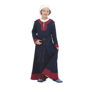 Historisches Kinderkostüm, Kleid mit Haube #9473