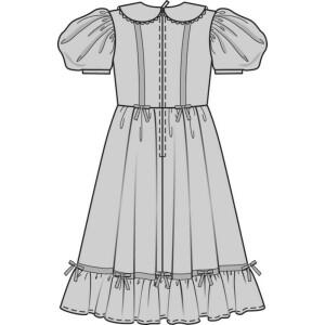 Biedermeierkleid für Kinder #9529