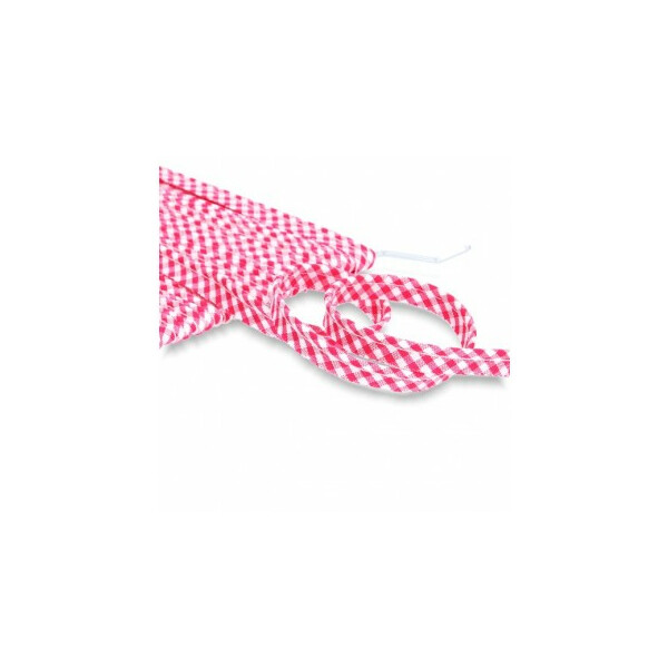 Paspelband Vichy 10 mm, pink