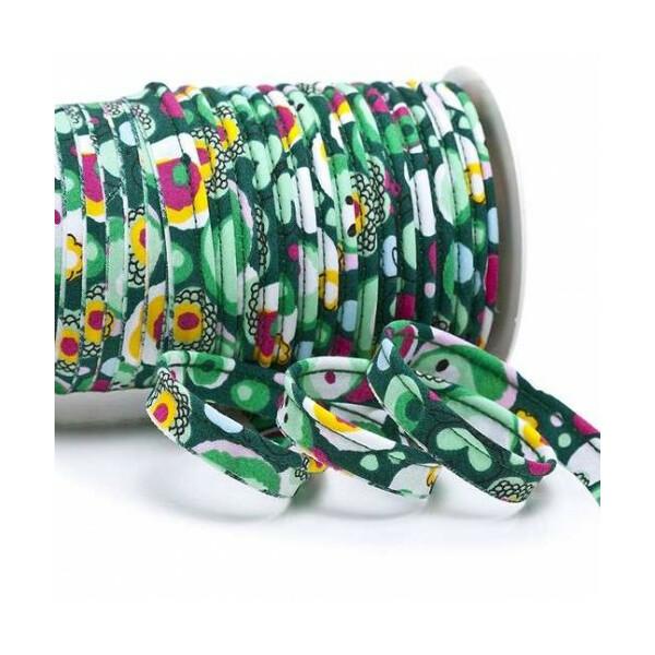 Paspelband bloomy 10 mm, grün