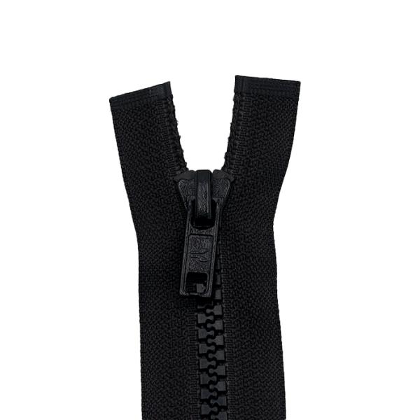Reißverschluss Dekor 6mm, schwarz