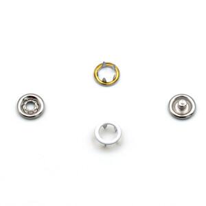 Jersey Druckknöpfe offen weiß, 20 Stück, 11 mm