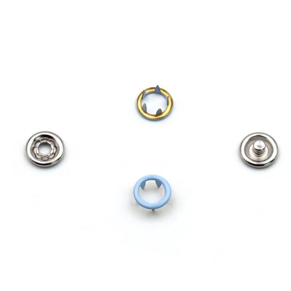 Jersey Druckknöpfe offen hellblau, 20 Stück, 11 mm