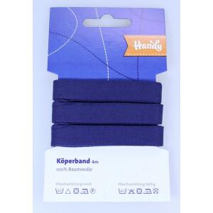 Köperband 13 mm, dunkelblau
