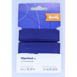 Köperband 20 mm, dunkelblau