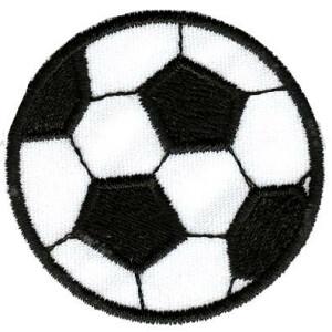 Applikation zum Aufbügeln, Fußball