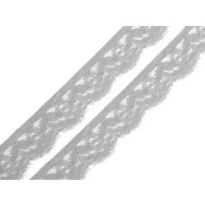 Spitze elastisch 20 mm, hellgrau