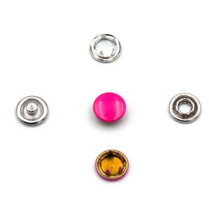 Jersey Druckknöpfe geschlossen pink, 20 Stück, 11 mm