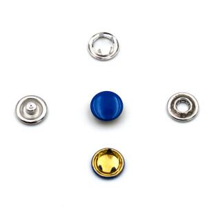 Jersey Druckknöpfe geschlossen blau, 20 Stück,...