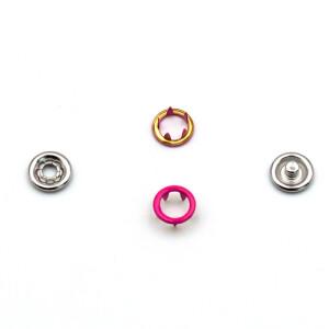Jersey Druckknöpfe offen pink, 20 Stück, 9 mm