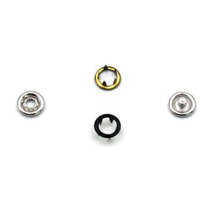 Jersey Druckknöpfe offen schwarz, 20 Stück, 9 mm