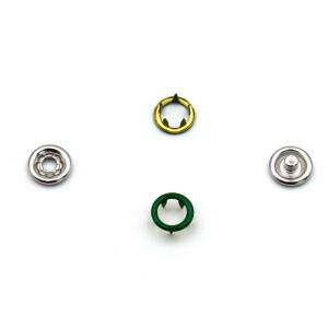 Jersey Druckknöpfe offen grün, 20 Stück, 9 mm