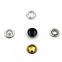 Jersey Druckknöpfe geschlossen schwarz, 20 Stück, 11 mm