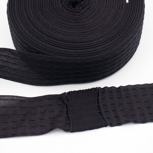 Ringelspitz Schnelle Falte 55mm, schwarz