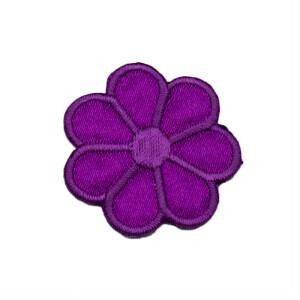 Patch Blume lila, 3 x 3 cm
