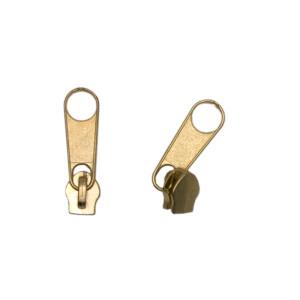 Reißverschluss Schieber Spirale 3mm, gold