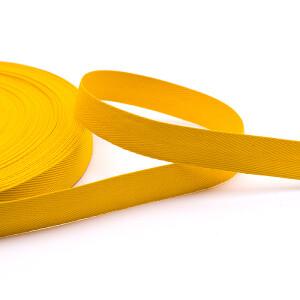 Köperband 16 mm, gelb