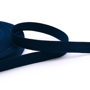 Köperband 16 mm, dunkelblau