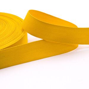 Köperband 25 mm, gelb