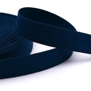 Köperband 25 mm, dunkelblau