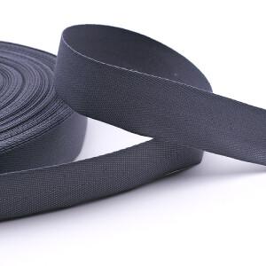 Köperband 25 mm, grau