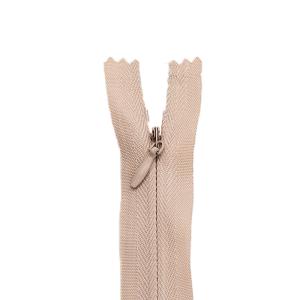 Nahtverdeckter Reißverschluss, hellbeige 20 cm