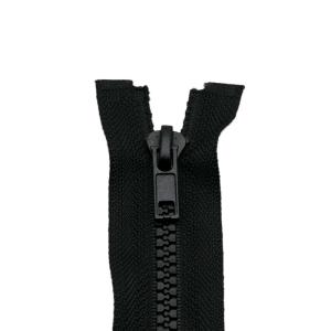 Reißverschluss Kunststoffkrampe 5mm, schwarz 45 cm