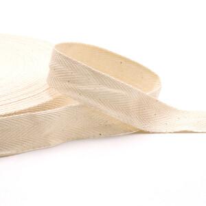 Köperband 20 mm, natur