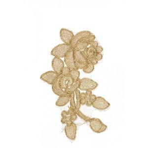 Rosenapplikation Spitze, gold
